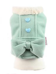 abordables -Perro Abrigos Ropa para Perro Lazo Verde Rosa Algodón Disfraz Para mascotas Mujer Bonito Mantiene abrigado