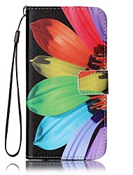 cheap -For Samsung Galaxy S7 edge S7 Card Holder Wallet with Stand Case Full Body Case Flower Hard PU Leather S6 edge S6 S5