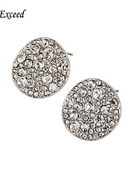 cheap -Shiny Round Shape Crystal Mosaic With Silver Plating Alloy Stud Earring  for Women