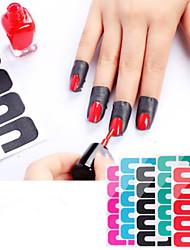 abordables -esmalte de uñas esmalte de uñas gradiente de impresión adhesivo a prueba de derrames lágrima palo 1 unids