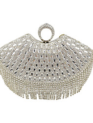 cheap -Women's Bags Special Material Evening Bag Crystal/ Rhinestone for Wedding Event/Party Formal All Seasons Black Silver Golden