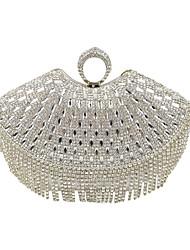 preiswerte -Damen Taschen Spezielle Werkstoff Abendtasche Crystal / Strass für Hochzeit Veranstaltung / Fest Formal Ganzjährig Schwarz Silber Golden