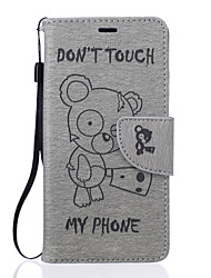 cheap -Case For Huawei P9 Huawei P9 Lite Huawei Huawei Case Card Holder Wallet with Stand Embossed Full Body Cases Cartoon Hard PU Leather for