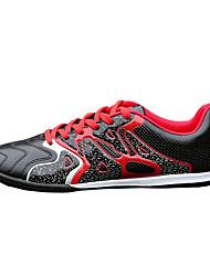 Masculino sapatos Couro Ecológico Primavera Outono Conforto Tênis Futebol Cadarço Para Casual Vermelho Verde Azul