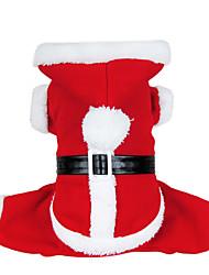 Hund Kostume Frakker Hættetrøjer Hundetøj Sødt Cosplay Jul Solid Rød Kostume For kæledyr