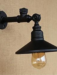 ac 220-240 40 e27 rustique / lodge fonctionnalité de peinture pour l'ampoule incluse, mur de lumière ambiante bougeoirs applique murale