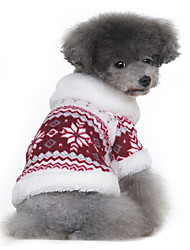 abordables -Abrigo Sherpa de Copo de Nieve para Perros (XS-XL, Colores Surtidos)