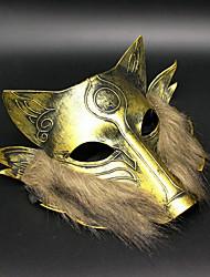 1pc maschera di ferro lupo per festa di halloween costume colore casuale