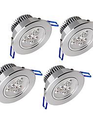 Недорогие -450-550 lm 3 Светодиодные бусины Диммируемая LED даунлайт Тёплый белый Холодный белый Естественный белый Дом / офис Гостиная / столовая Холл / лестничная площадка / 4 шт.