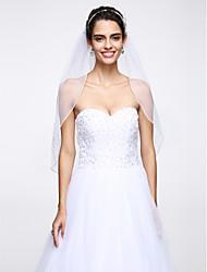 abordables -velos de codo de velo de novia de una sola capa con accesorios de boda con red de cuentas