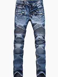 cheap -Men's Slim Jeans Pants - Solid