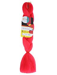 baratos -Tranças Jumbo Tranças de Cabelo 45cm Cabelo Ombre para Extensão Cabelo 100% Kanekalon Rosa Cabelo para Trançar Extensões de cabelo