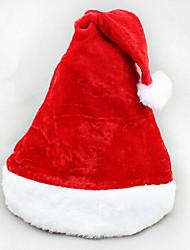 2pcs natal curta de veludo chapéu de Santa chapéu super macio natal