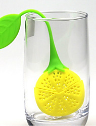 cheap -Lemon Design Silicone Tea Strainer