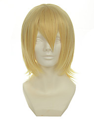 Kingdom Hearts Series Snow Light Mixed Gold Versatile Cocked Short Halloween Wig Synthetic Wig Costume Wigs