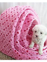 Недорогие -Кошка / Собака Кровати Животные Коврики и подушки Мягкий Розовый / Розовый Для домашних животных