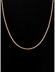 cheap -Women's Jewelry Simple Style Chain Necklace Silver Plated Gold Plated Chain Necklace , Wedding Party Daily Casual Sports