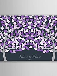 Недорогие -электронной подписи домой персонализированные холст невидим рама печать -фиолетовый двух больших деревьев