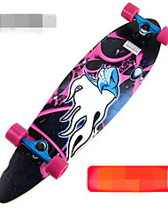41 Zoll Longboards Skateboard Standard-Skateboards Berufs Ahorn Aleación ABEC-9-Schwarz Orange Purpur Grün
