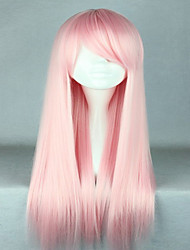 cheap -High Quality Costume Hair Synthetic Light Pink Cosplay Wigs 70cm Long Straight Lolita Wig