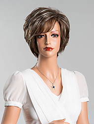 New Arrival Elegant Short Straight Capless Wigs High Quality Human Hair Mixed Color 8 Inchs