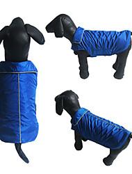 abordables -Chien Manteaux Gilet Vêtements pour Chien Couleur Pleine Orange Jaune Rouge Rose Rouge Bleu Coton Costume Pour les animaux domestiques