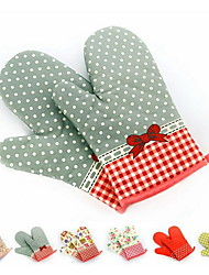 cheap -2 Pieces Pot Holder & Oven Mitt For Cooking Utensils / Bread / Cake / Cookie / Pizza Fabric Heat-insulated