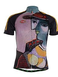TVSSS Camisa para Ciclismo Homens Manga Curta Moto Camisa/Roupas Para Esporte Blusas Secagem Rápida Zíper Frontal Respirável Macio Tecido