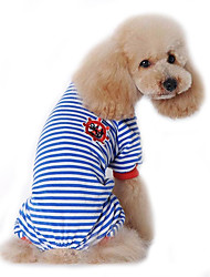cheap -Dog Jumpsuit Pajamas Dog Clothes Cute Casual/Daily Sailor Black Red Blue Costume For Pets