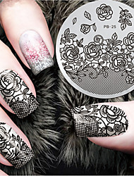 cheap -2016 Latest Version Fashion Pattern Flower Nail Art Stamping Image Template Plates