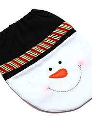 abordables -1 ensembles bonhomme de neige heureux noël salle de bain siège de toilette mis noël couverture tapis décoration année  de