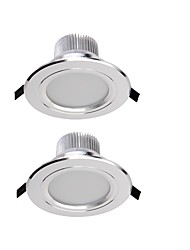 YouOKLight 2PCS 7.5W 450lm  Warm White/ White 15-LED5630 Ceiling DownLight  - Silver (AC 85265V)