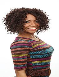Ženy Tmavě hnědá Kudrnaté Afro Umělé vlasy Bez krytky Přírodní paruka paruky