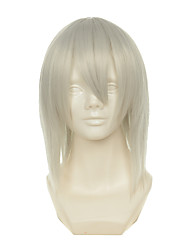 cheap -D.Gray-man Kimani Gray Yzak Jule White Short Straight Halloween Wig Synthetic Wigs Costume Wig