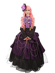 One-Piece/Dress Maid Suits Gothic Lolita Classic/Traditional Lolita Steampunk® Cosplay Lolita Dress Floral Long Length Dress Hat ForLace