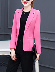 cheap -Women's Simple Blazer - Solid Colored