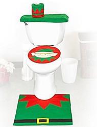 abordables -housse de siège de flanelle de qualité&mettre une serviette réservoir d'eau de pad tapis de pied couverture salle de bain se père