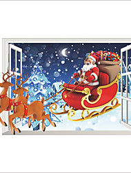 cheap -Christmas / People / 3D Wall Stickers Plane Wall Stickers / 3D Wall Stickers Decorative Wall Stickers,PVC MaterialWashable / Removable /