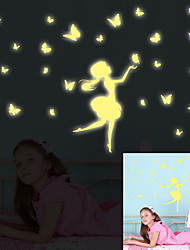 Luminous DIY Girl Butterfly Luminous Wall Stickers Removable Girls Room Living Room Wall Decals
