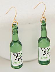 cheap -Women's Fashion Cute Classic Beer Bottle Earrings