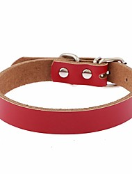 Dog Collar Adjustable / Retractable Reflective Running Hands free Casual Cosplay Solid PU Leather Black Brown Red Blue Pink