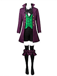 cheap -Inspired by Black Butler Ciel Phantomhive Movie/TV Theme Costumes Anime Cosplay Costumes Cosplay Suits Solid Patchwork Long Sleeves Coat