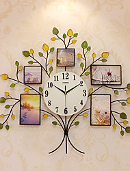 Modern/Contemporary Houses Wall ClockOthers Acrylic / Glass / Metal 63*68cm Indoor Clock