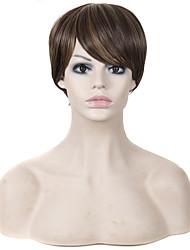 Ženy Jahodový blond Rovné Umělé vlasy Bez krytky Přírodní paruka paruky
