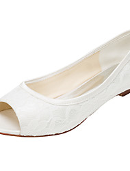 povoljno -Žene Cipele Rastezljivi saten Proljeće Ljeto Jesen Ravne cipele Ravna potpetica Peep Toe za Vjenčanje Zabava i večer Formalne prilike