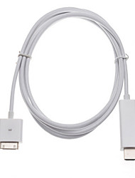 cheap -1.8 M IPAD To HDMI Cable Iphone4S To HDMI High-Definition TV Monitor Cable