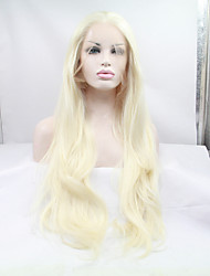 cheap -Synthetic Lace Front Wig Straight Blonde Women's Lace Front Natural Wigs Synthetic Hair