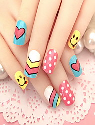 cheap -Manicure Finished a Colorful Piece 24 PIECE Nail Patch Rainbow