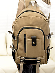 Unisex Bags All Seasons Canvas Backpack for Casual Outdoor Black Beige Brown Army Green Khaki
