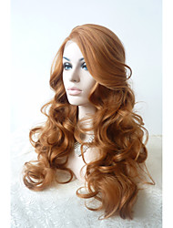 cheap -Sylvia Synthetic Lace front Wig Auburn Heat Resistant Long Curly Synthetic Wigs